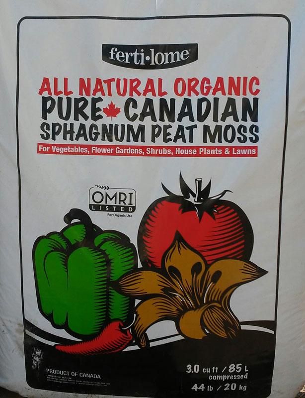 3cu.ft or 1cu.ft. Fertilome All-Natural Organic Sphagnum Peat Moss