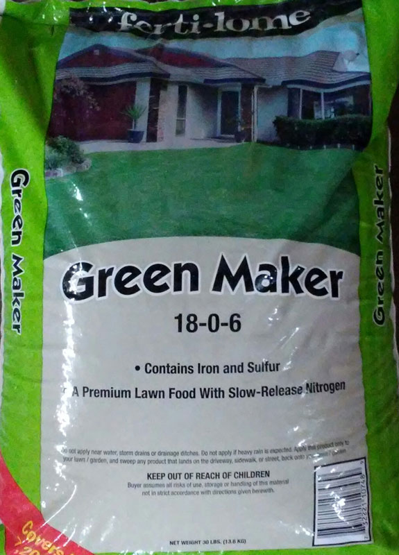 30lb Fertilome Green Maker Lawn Food